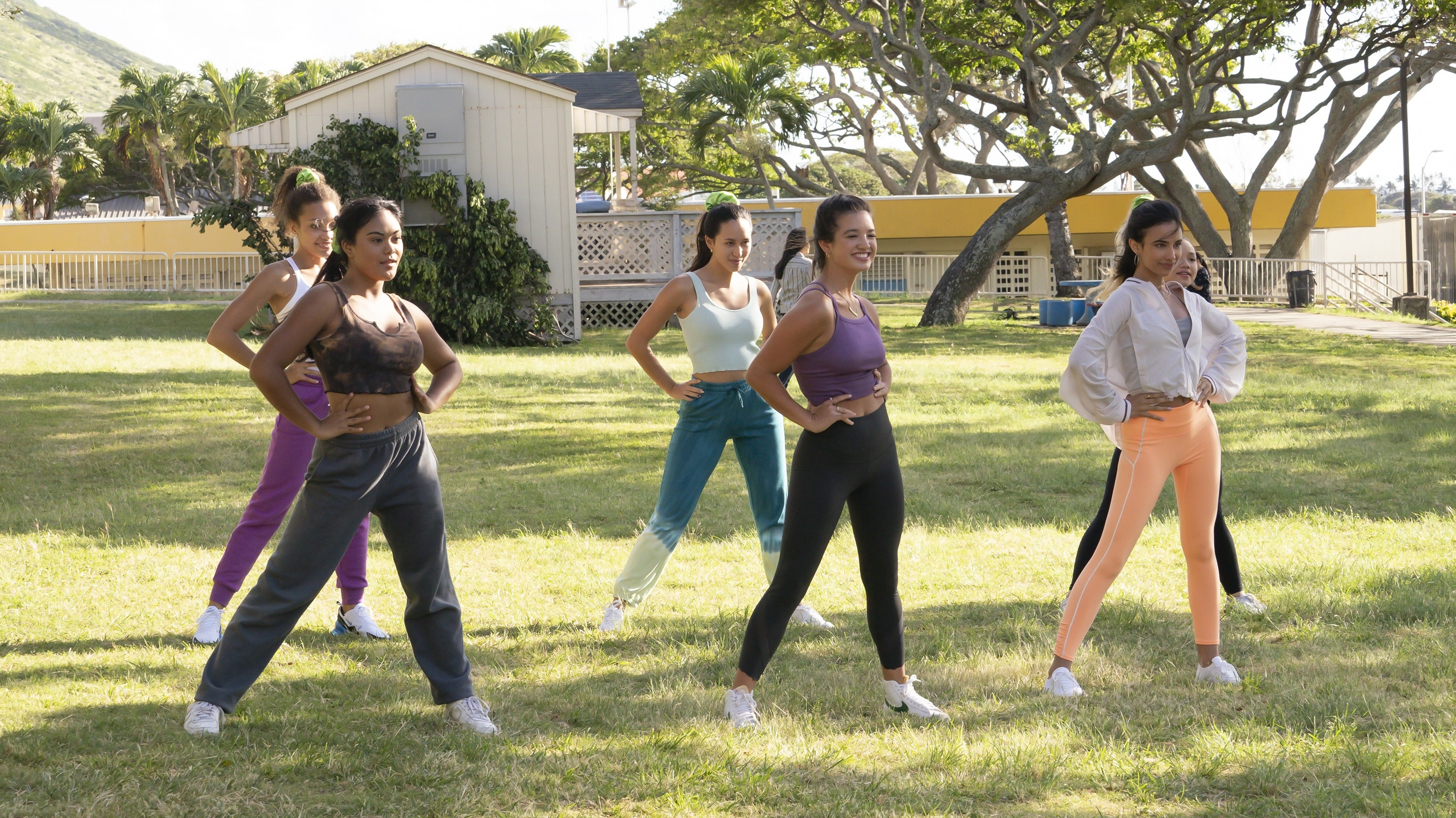 """DOOGIE KAMEALOHA, M.D. - """"Career Babes"""" - Lahela tries to fit in by joining the high school dance team; Kai's new passion worries his parents. (Disney/Karen Neal)"""