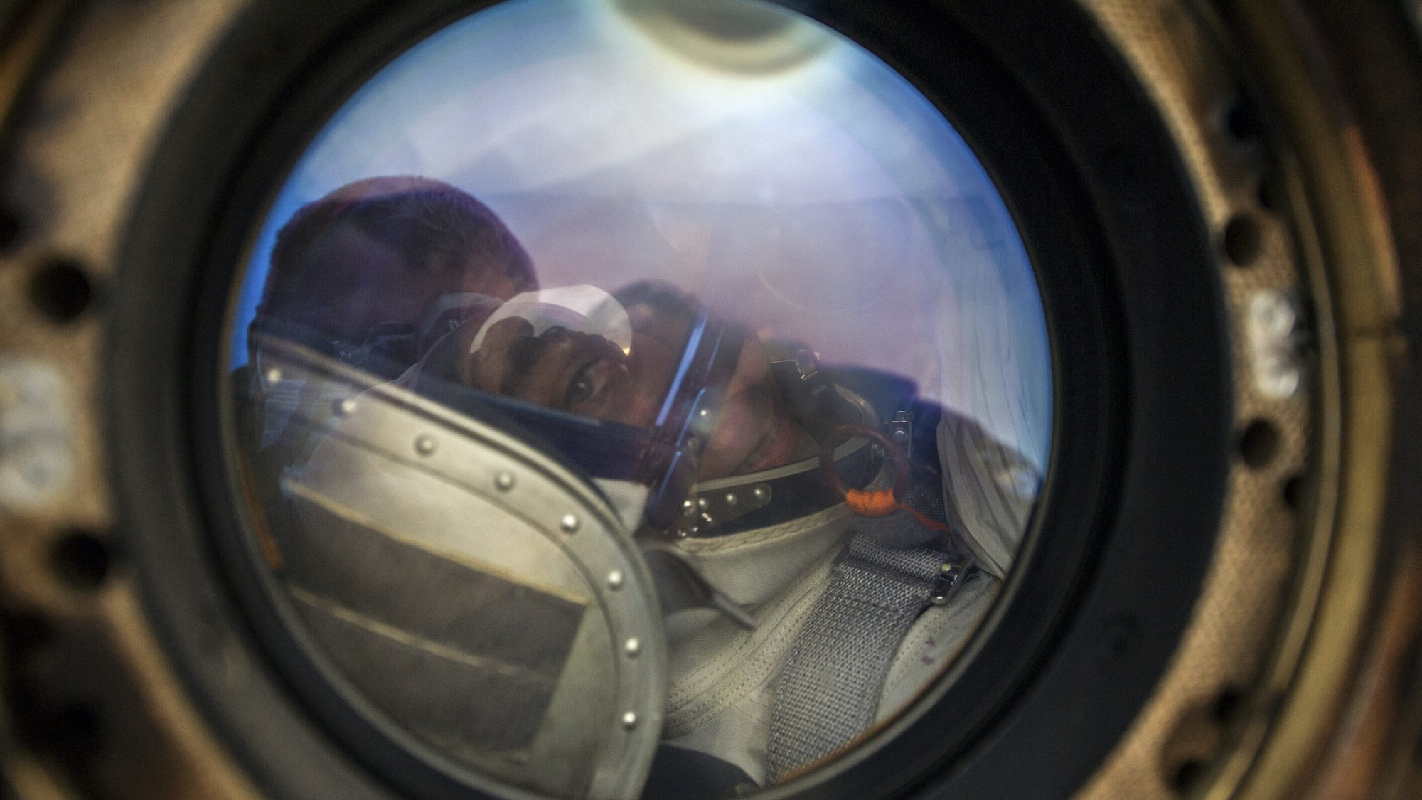 AMONG THE STARS - Expedition 63 NASA astronaut Chris Cassidy smiles from inside the Soyuz MS-16 spacecraft just minutes after he and Roscosmos cosmonauts Ivan Vagner, and Anatoly Ivanishin, landed in a remote area near the town of Zhezkazgan, Kazakhstan on Thursday, October 22, 2020, Kazakh time (Oct. 21 Eastern time). Cassidy, Ivanishin and Vagner returned after 196 days in space having served as Expedition 62-63 crew members onboard the International Space Station. (NASA/GCTC/Denis Derevtsov) CHRIS CASSIDY