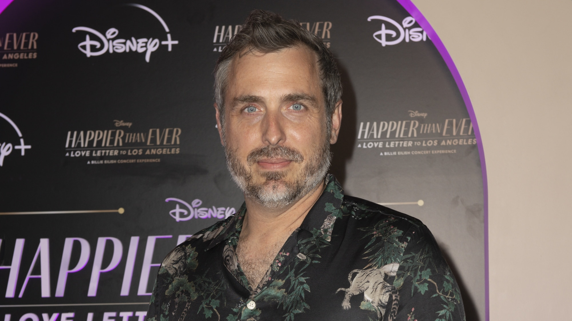 """HAPPIER THAN EVER: A LOVE LETTER TO LOS ANGELES - Stars celebrated at the drive-in world premiere of the Disney+ original film, """"Happier Than Ever: A Love Letter to Los Angeles,"""" a Billie Eilish concert experience, at The Grove in Los Angeles, Calif., Monday, August 30, 2021. (Disney/Kyusung Gong) PATRICK OSBORNE"""