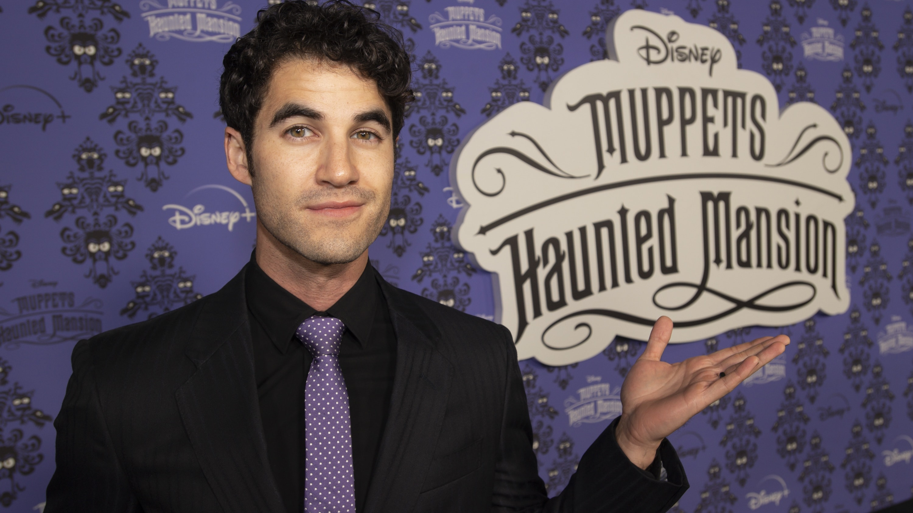 """MUPPETS HAUNTED MANSION - Stars of The Muppets first-ever Halloween special """"Muppets Haunted Mansion"""" attended the Drive-In Premiere Event at West Los Angeles College, Thursday, October 7. """"Muppets Haunted Mansion"""" is available to stream Friday, October 8 on Disney+. (Disney/Richard Harbaugh) DARREN CRISS"""