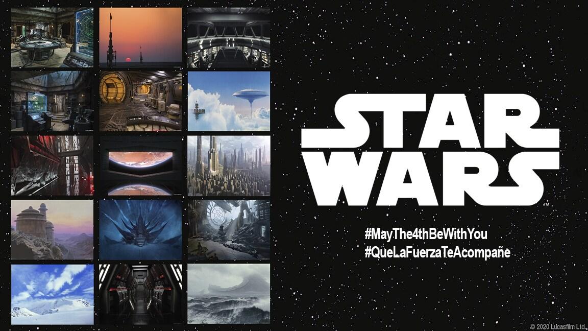 Fondos de Star Wars para tus reuniones desde una galaxia muy pero muy lejana