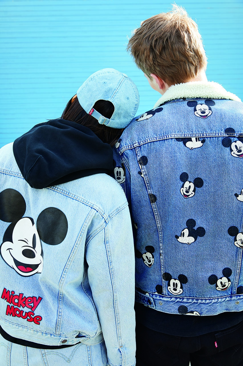 Levi Mickey Mouse themed denim jackets