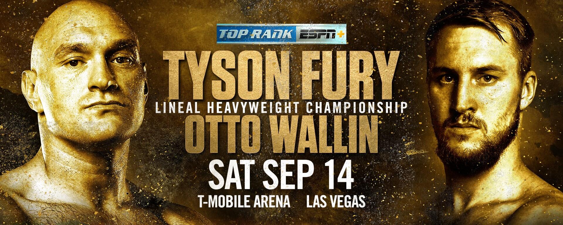 Image of Tyson Fury and Otto Wallin over Las Vegas Skyline