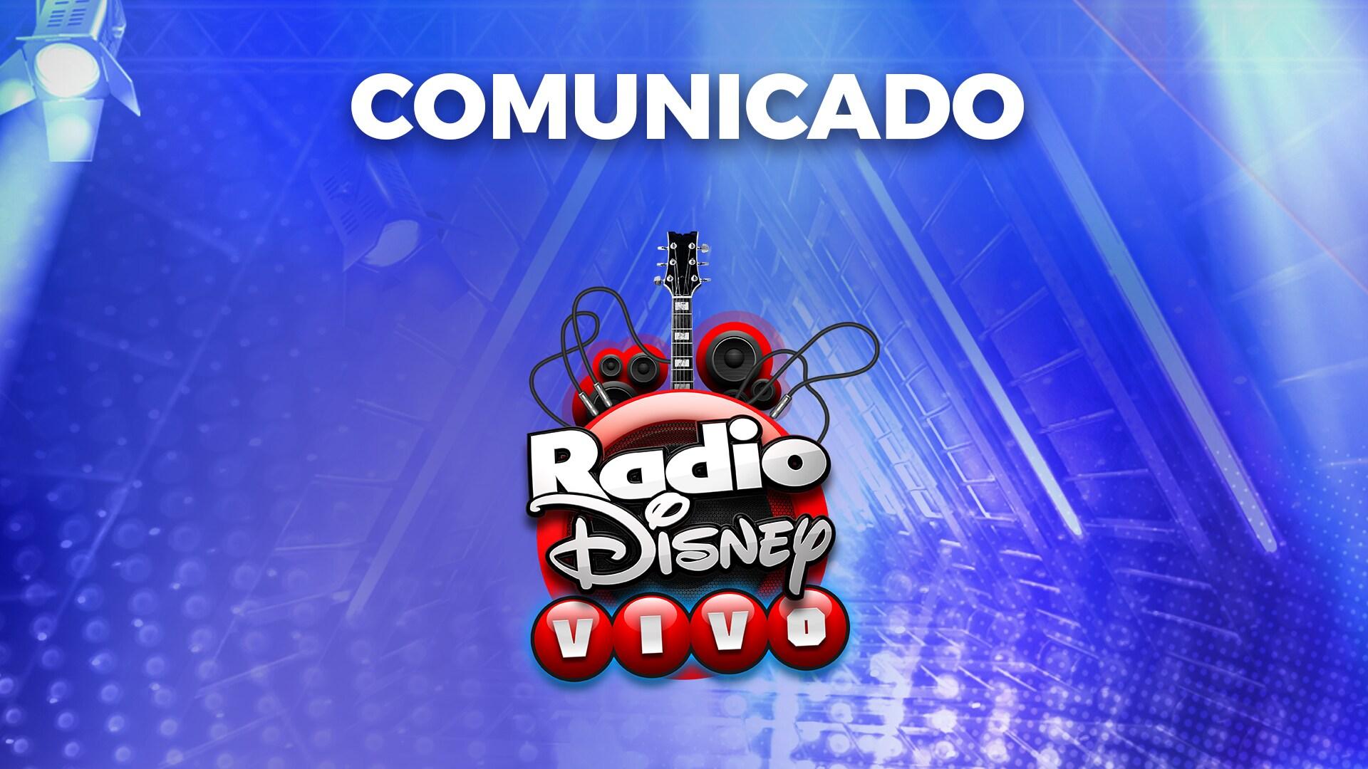 Comunicado Oficial Radio Disney Vivo