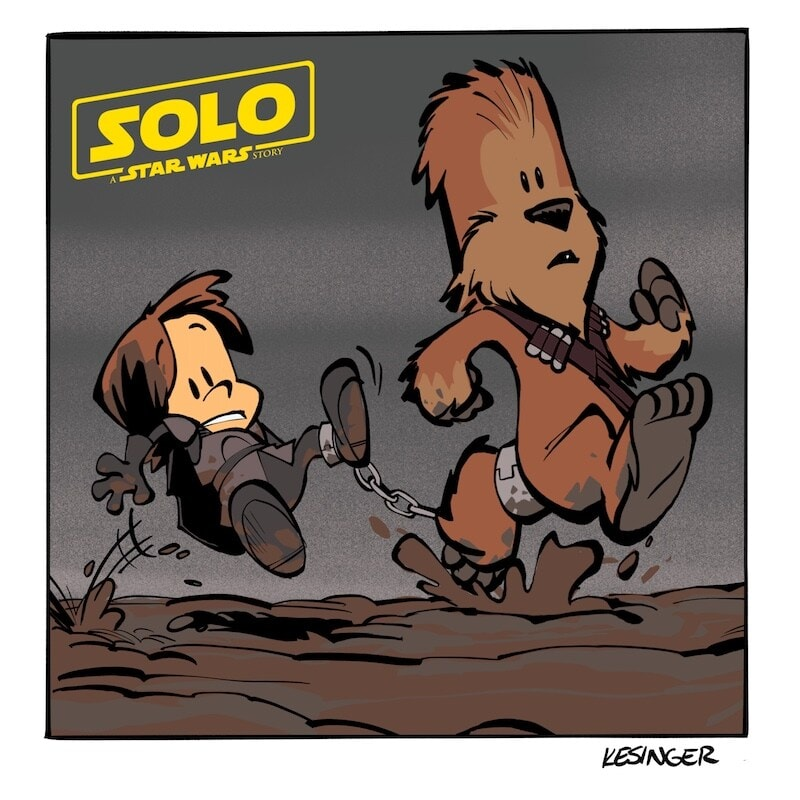 Lil' Chewie Cartoons Inspired by Solo: A Star Wars Story