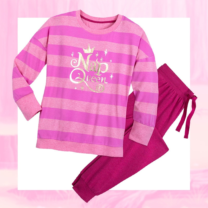 """Nap Queen"" pink striped pajama set"
