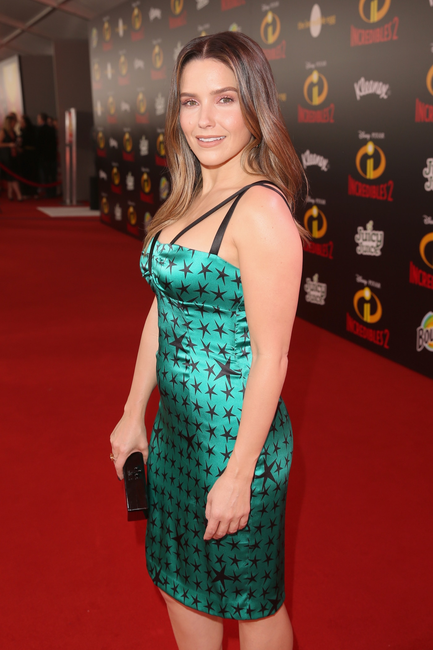 Sophia Bush posing for a picture on the red carpet
