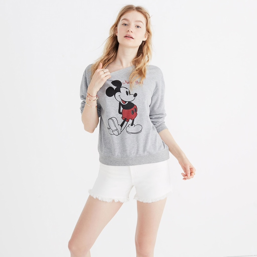 Sweatshirt from Madewell's Mickey Mouse Spring Collection