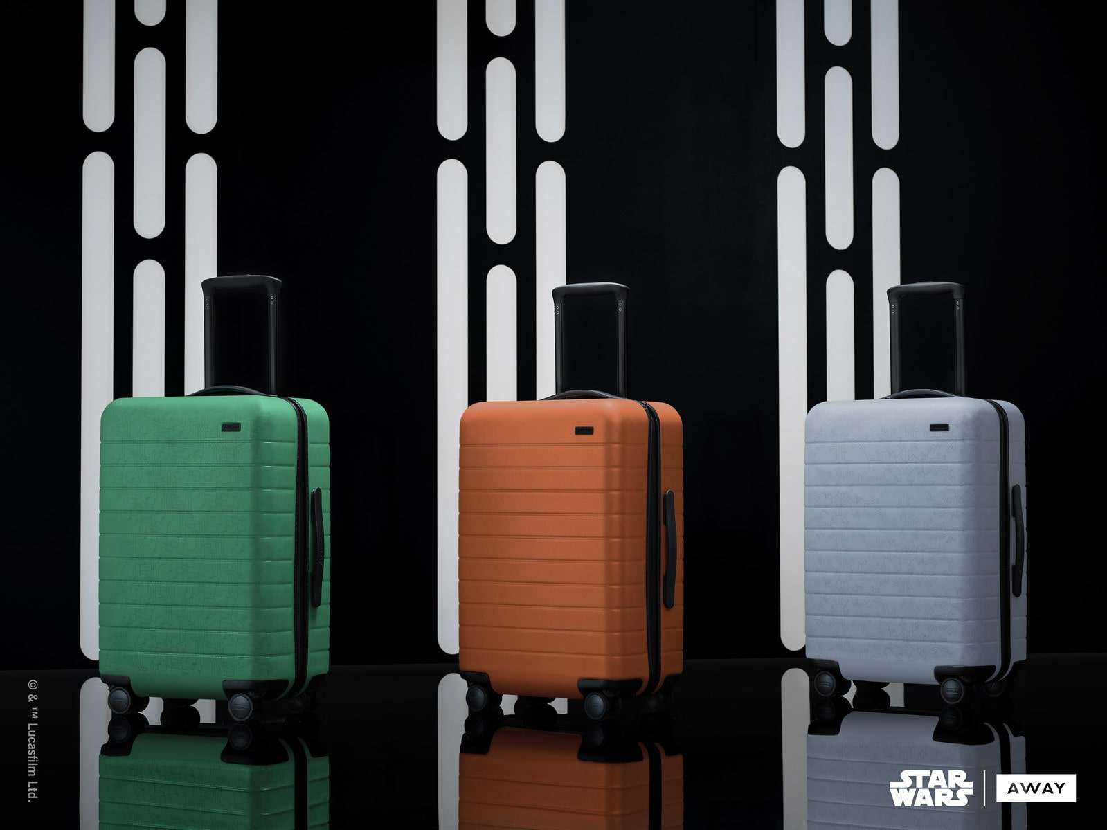 3 Away suitcases from the the Star Wars collection