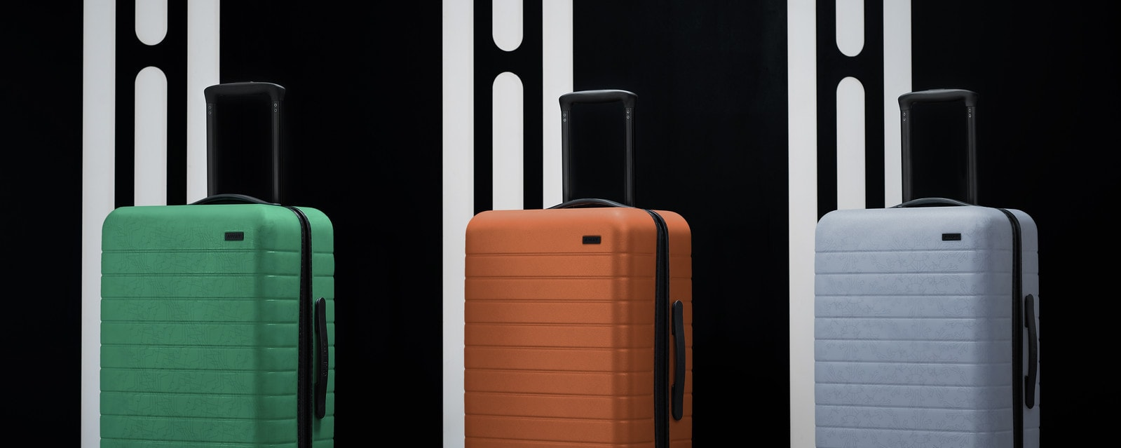 3 Away suitcases inspired by Tatooine, Hoth and Endor from the the Star Wars collection