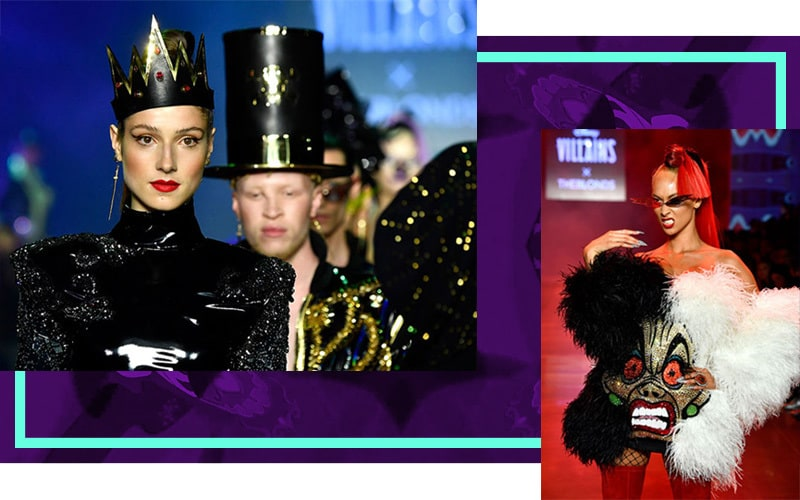 Disney Villains modelling at THE BLONDS show.