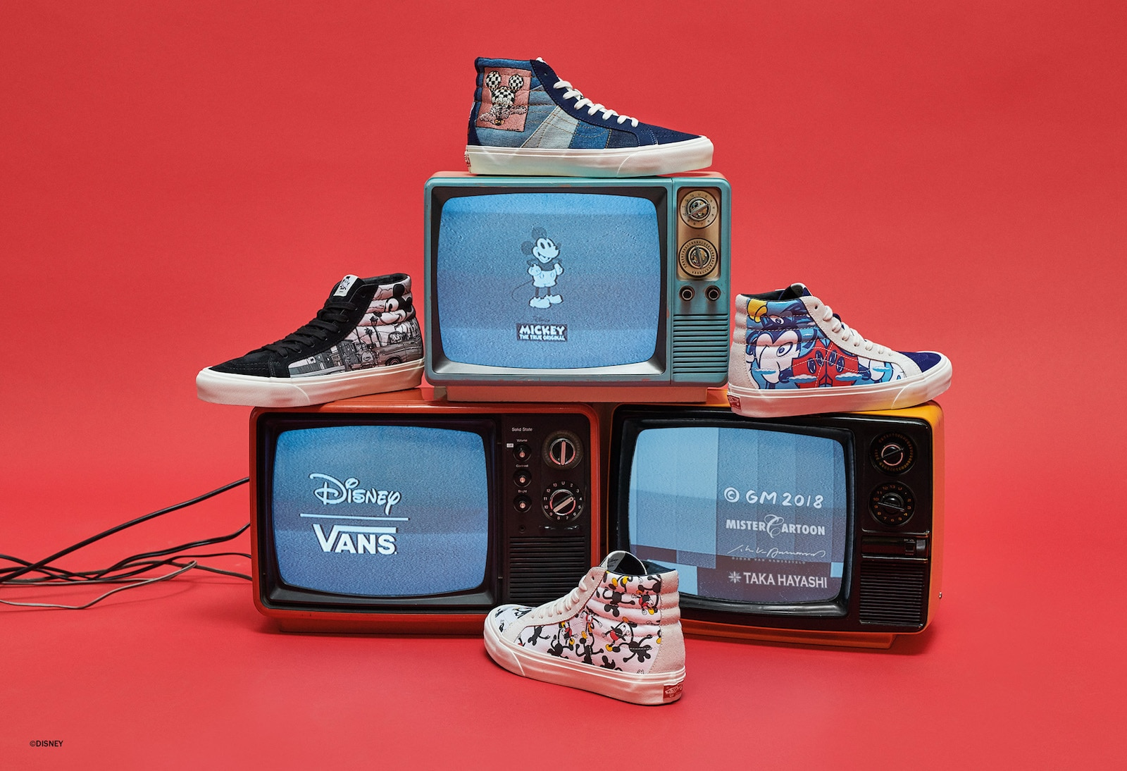 Sneakers from the Vault by Vans Mickey Mouse collection
