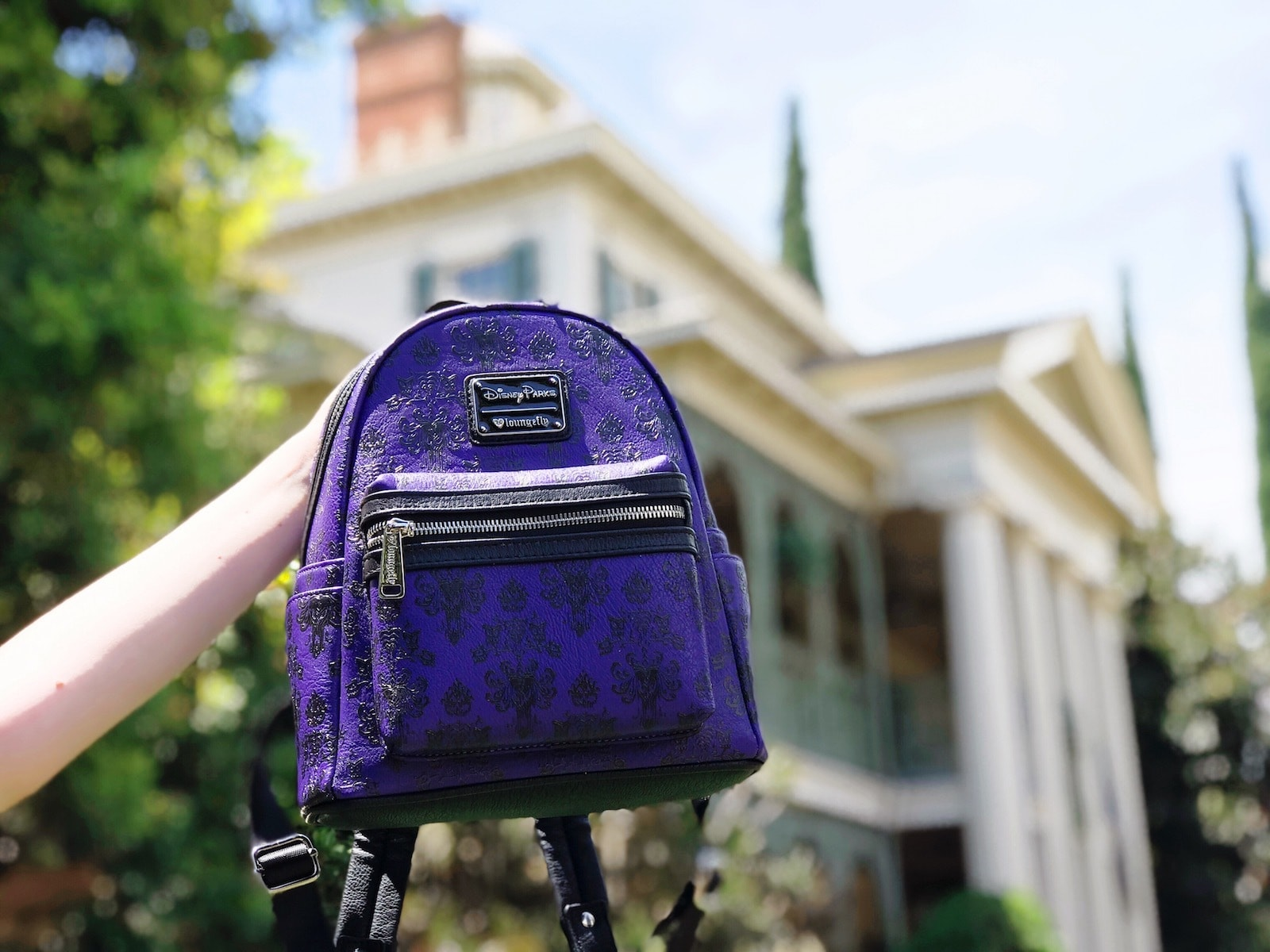 Purple Disney Parks back pack