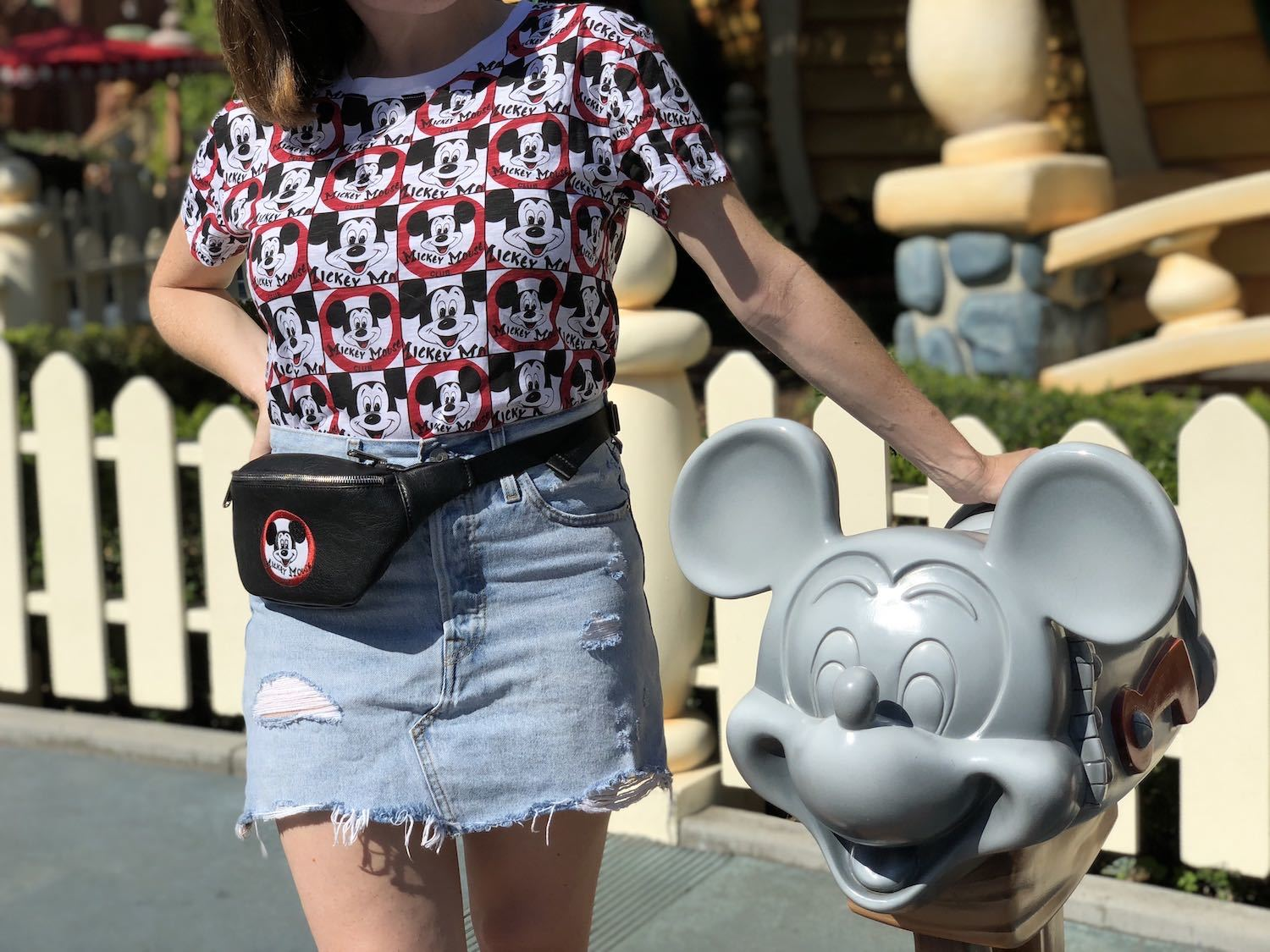 Tee shirt and waist bag from the Mickey Mouse Club collection