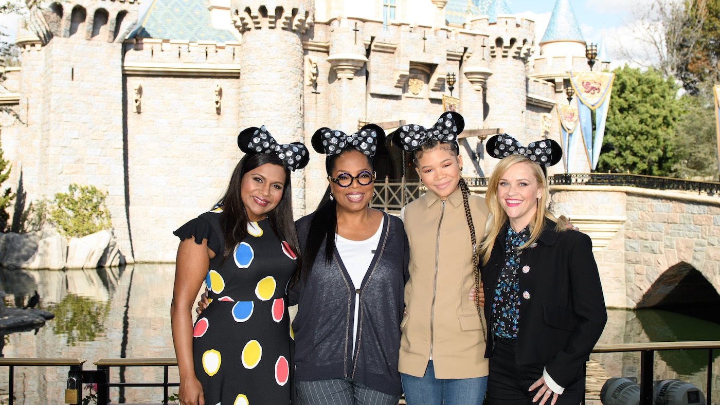 The Cast of A Wrinkle in Time Surprised Guests at the Disneyland Resort and Rocked Minnie Ears