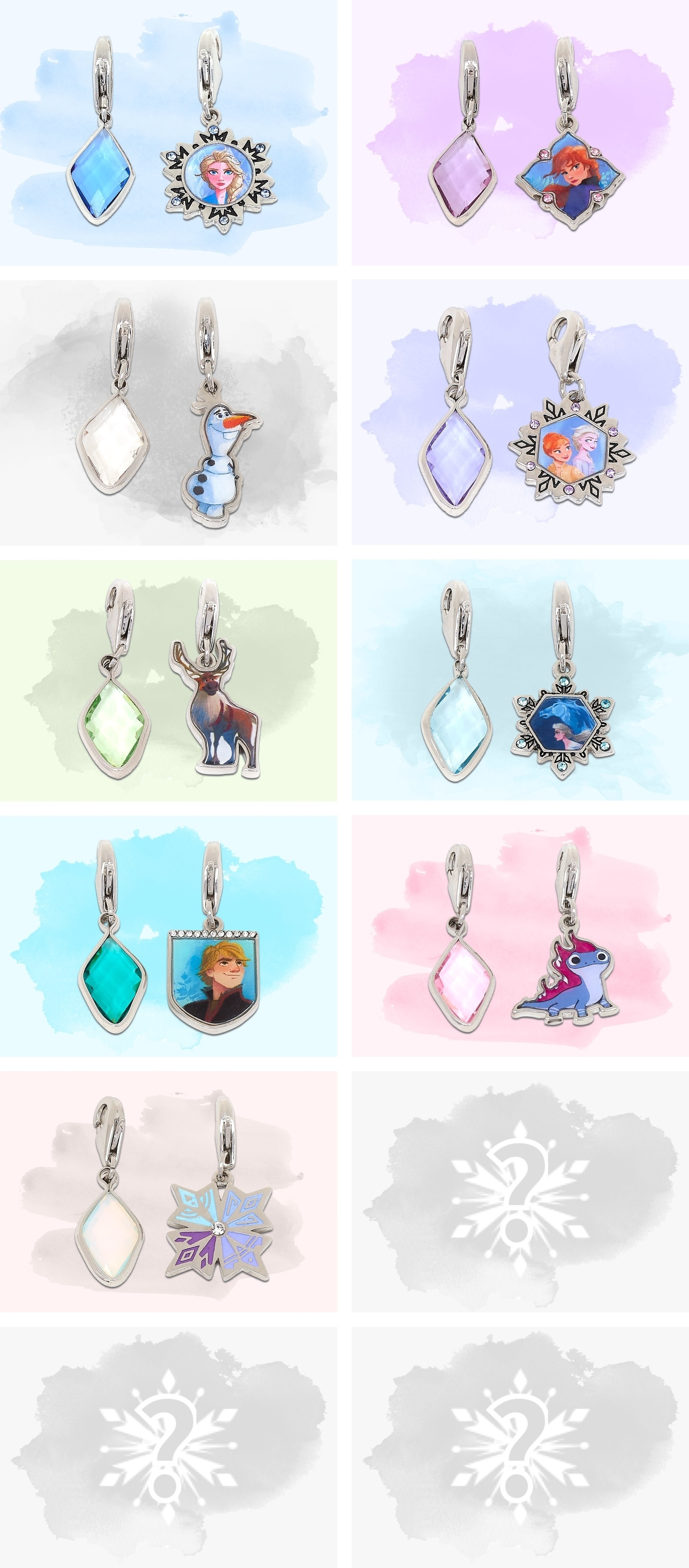 The complete charm collection inspired by Frozen 2 characters