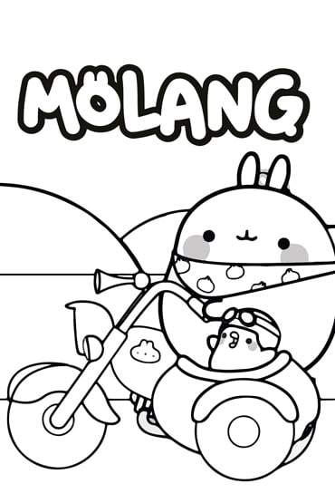 Molang Colouring Sheet 2 Disney