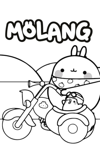 molang colouring page 2