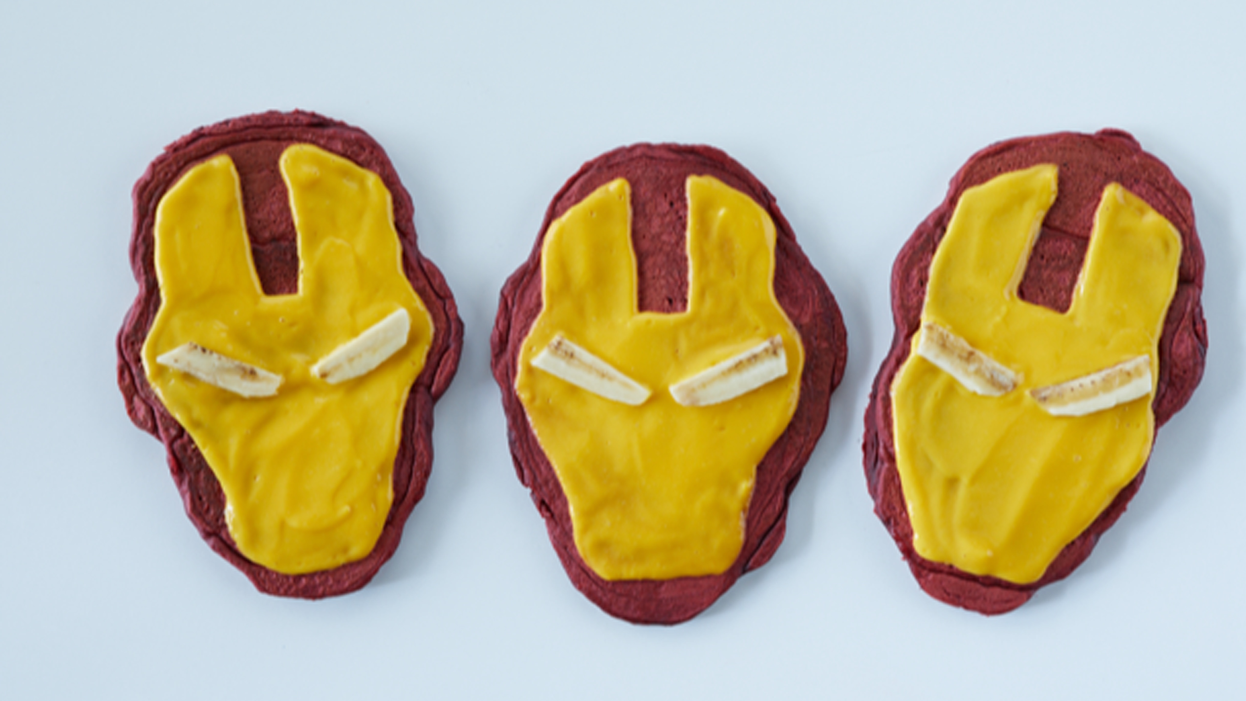 Pancake Armadura roja, inspirados en Iron Man de Marvel