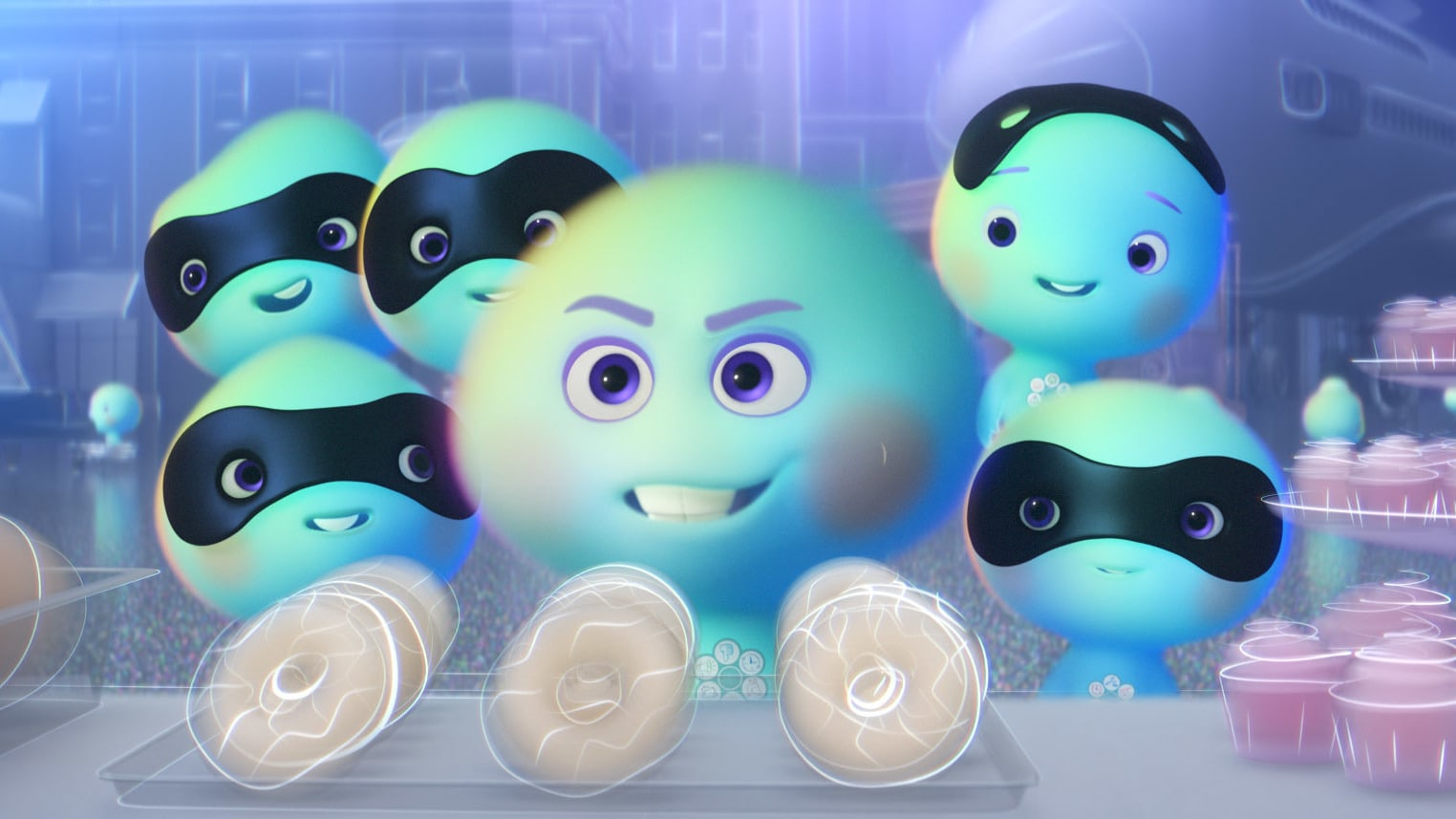 """In Pixar Animation Studios' """"22 vs. Earth,"""" new soul 22 (voice of Tina Fey) enlists a gang of five other new souls in her rebellious refusal to go to Earth. But her cohorts' activities lead to unexpected results. Set before the events of Disney and Pixar's """"Soul,"""" """"22 vs. Earth"""" is directed by Kevin Nolting and produced by Lourdes Alba. © 2021 Disney/Pixar. All Rights Reserved."""