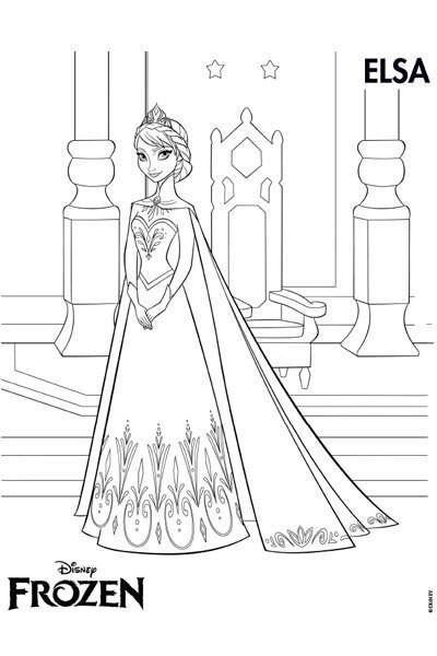 Kleurplaat Elsa