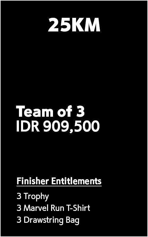 25km Team of 3