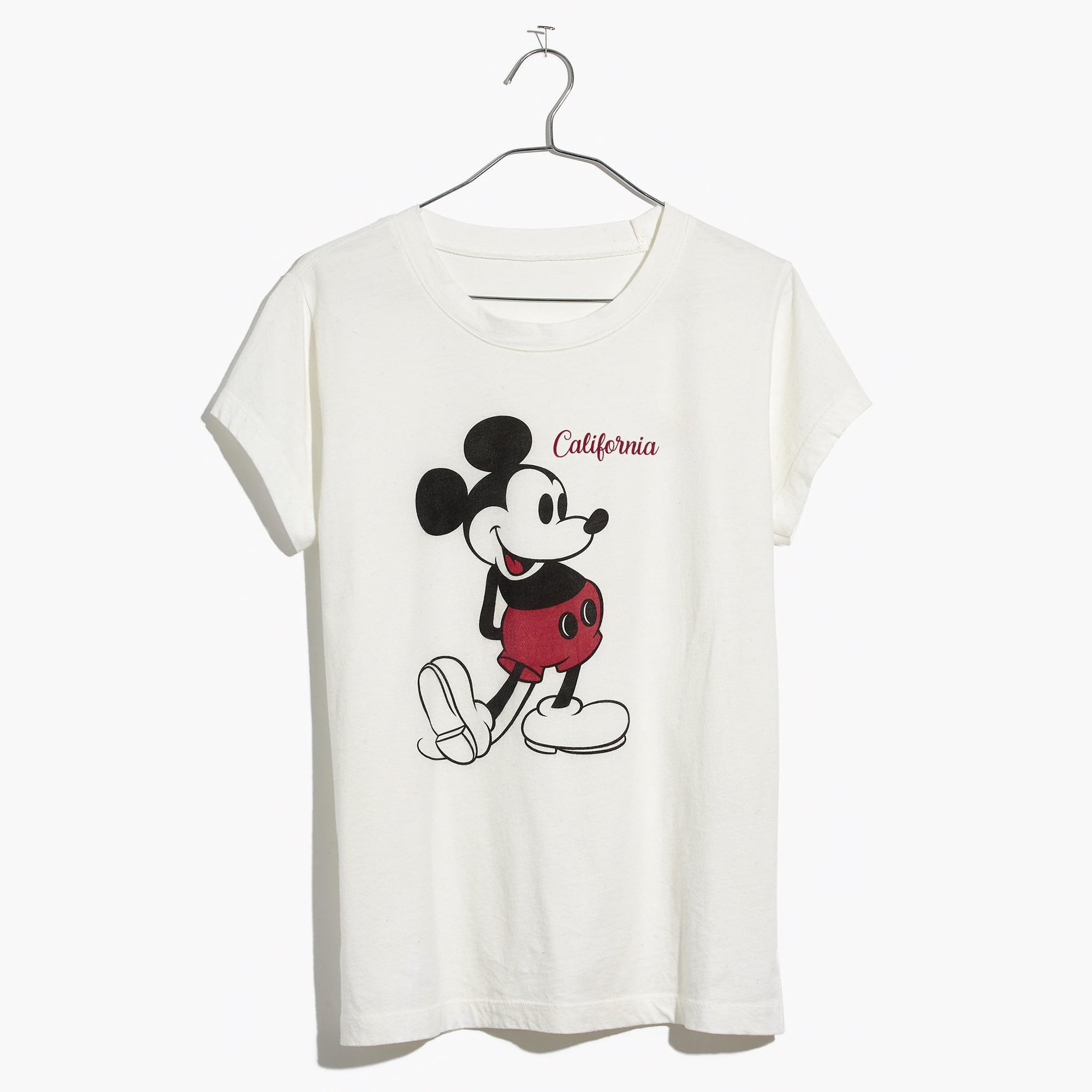 Tee shirt from Madewell's Mickey Mouse Spring Collection