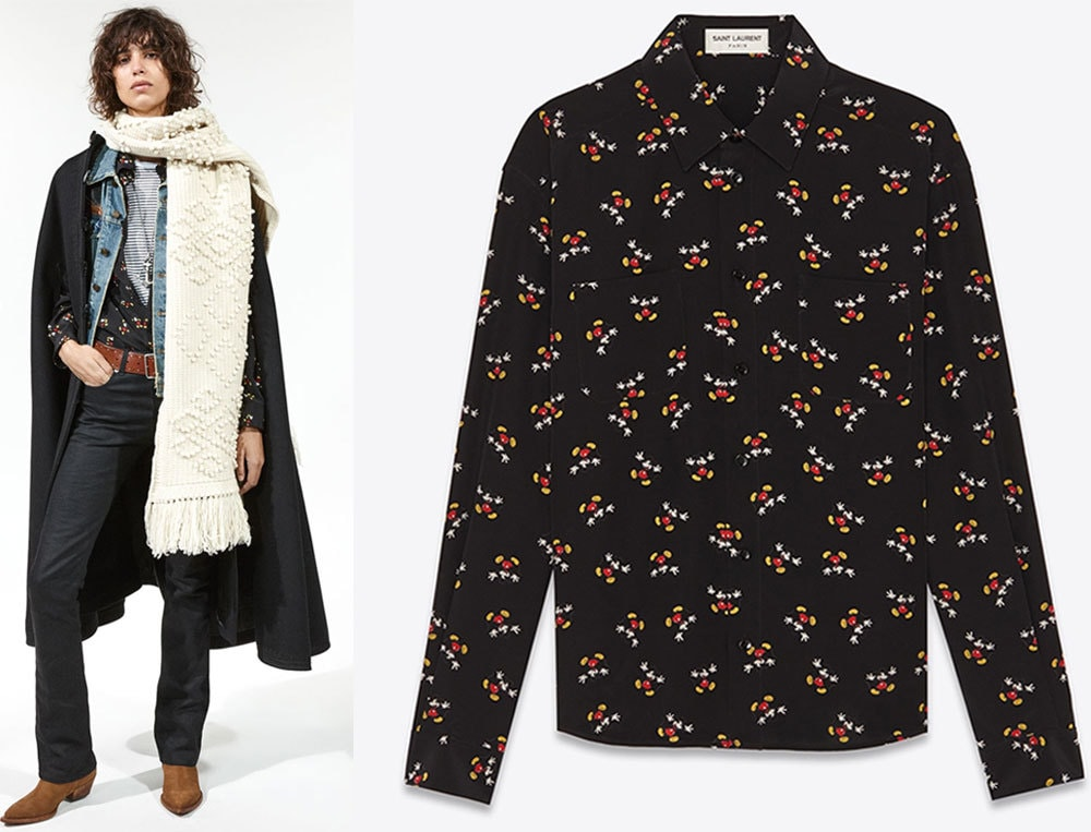 Shirt from Saint Laurent Mickey Mouse Collection