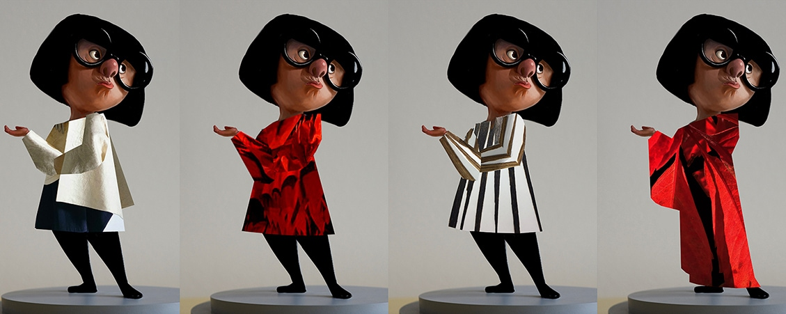 Different Edna outfit styles