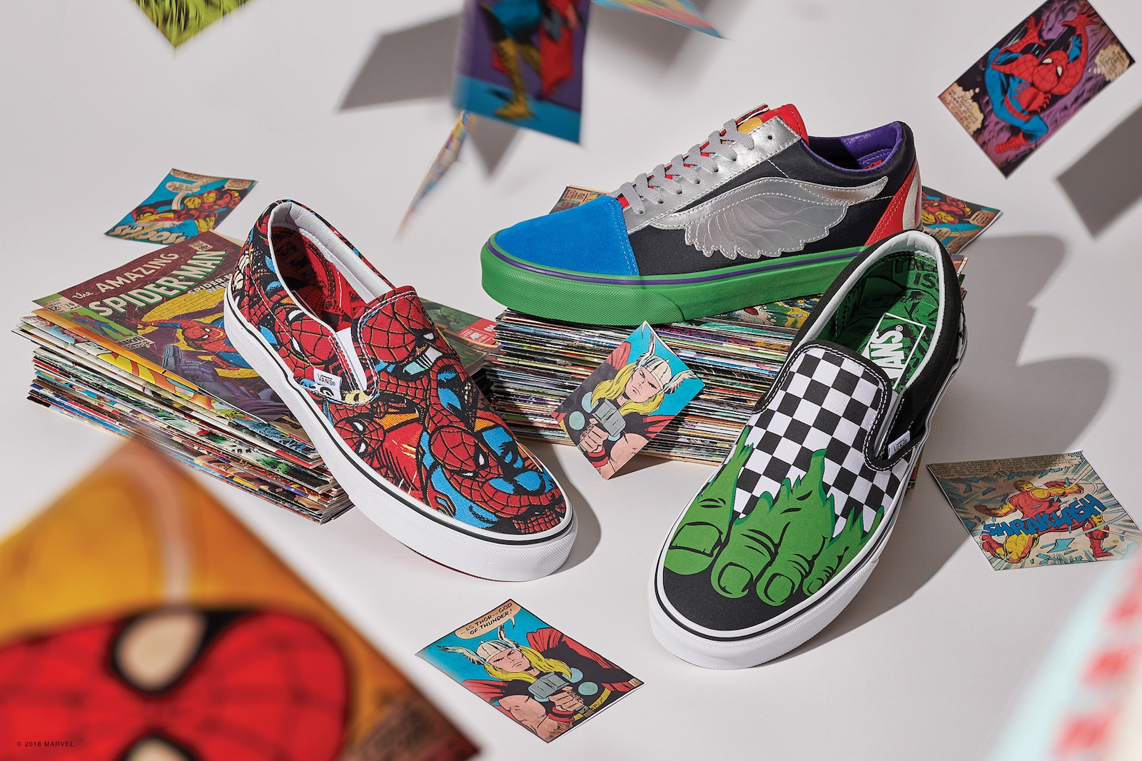 Items from the Marvel x Vans Heroic New Collection