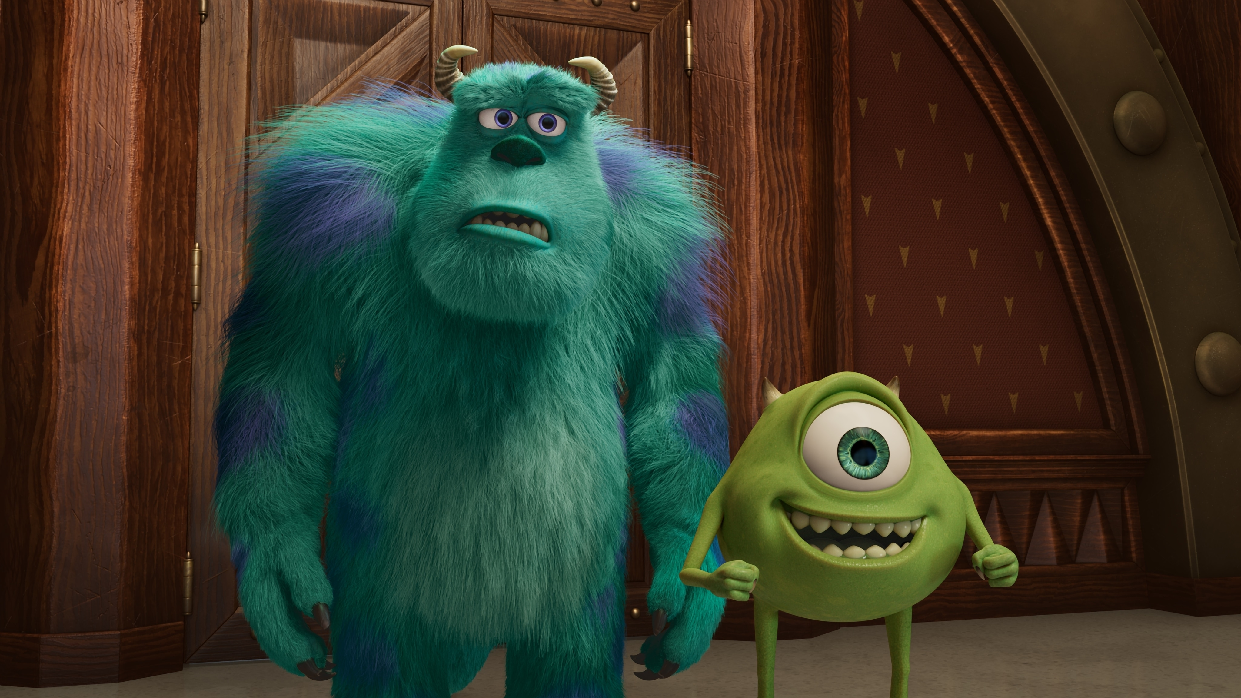 """MONSTERS AT WORK - """"Welcome to Monsters, Incorporated"""" - When Tylor Tuskmon arrives at Monsters Incorporated to begin his dream job as a Scarer, he discovers that scaring is out and laughter is in.  As a result he is temporarily reassigned to MIFT, the Monsters Incorporated Facilities Team. (Disney) SULLEY, MIKE"""