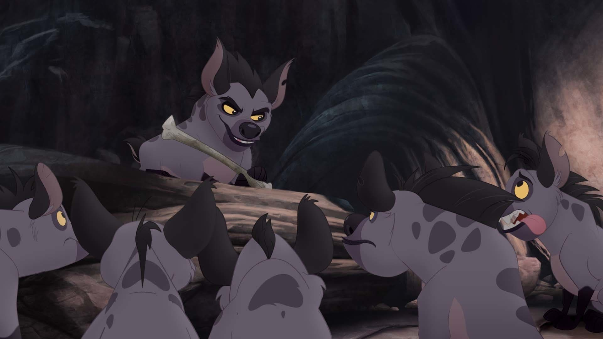 """Janja and the hyenas of the Outlands.From the movie """"The Lion Guard: Return of the Roar"""""""