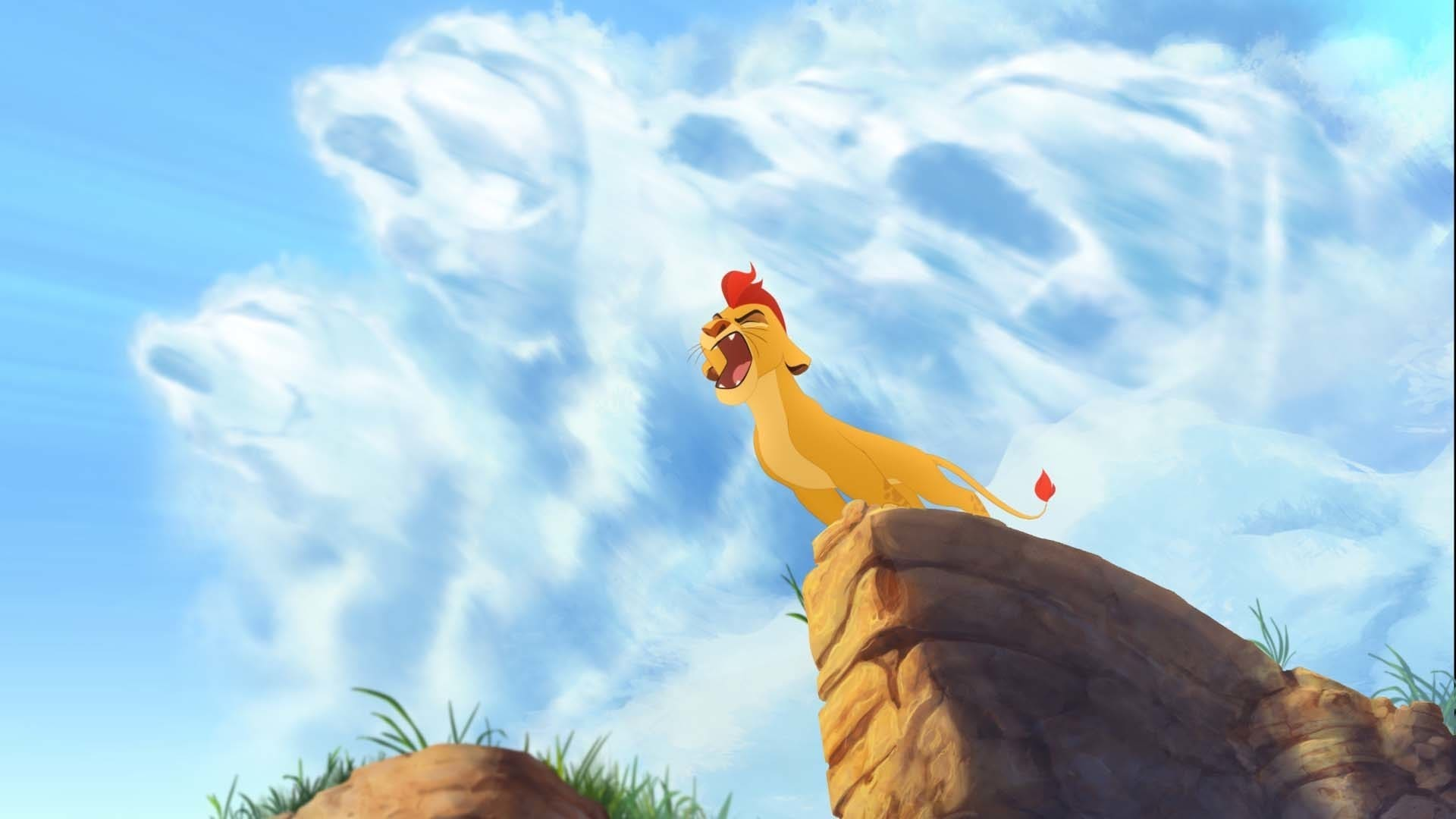 """Kion discovers he has the """"Roar of the Elders"""". From the movie """"The Lion Guard: Return of the Roar"""""""