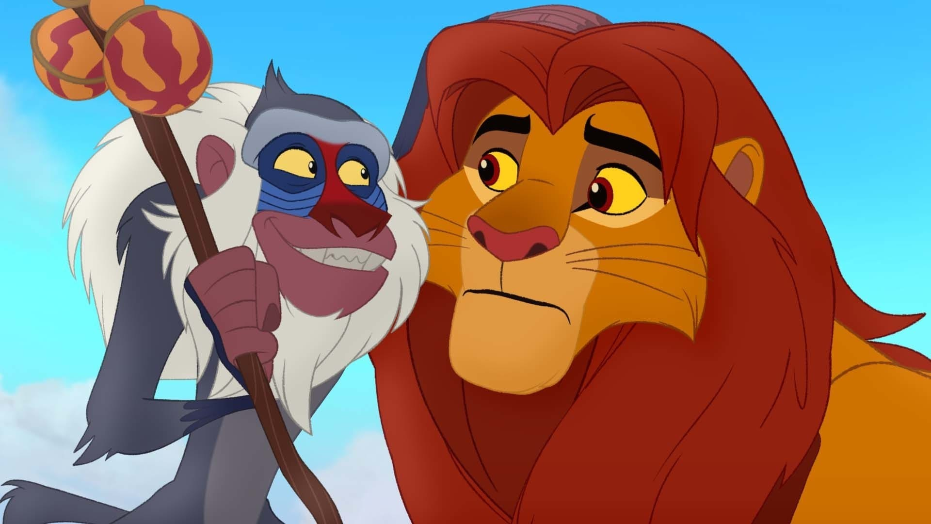 """Rafiki and Simba from the movie """"The Lion Guard: Return of the Roar"""""""