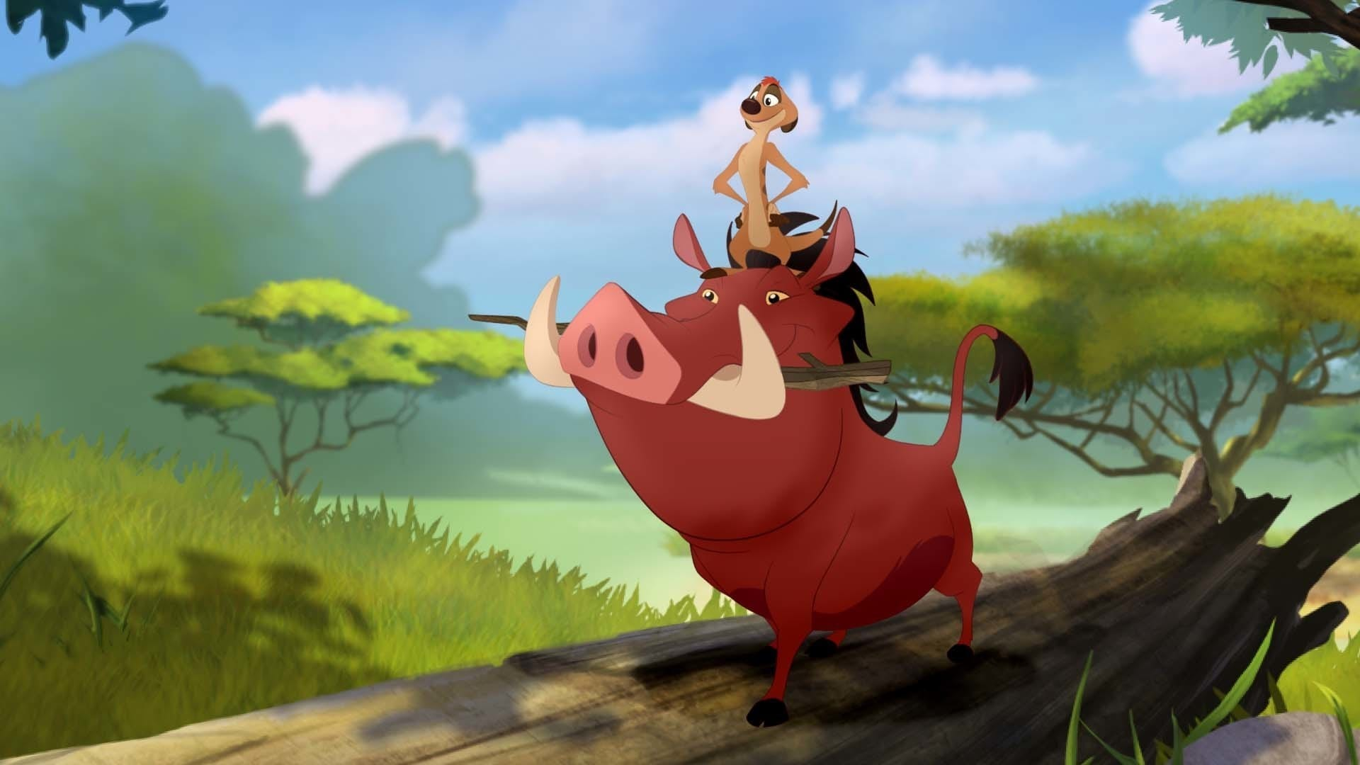 """Timon and Pumbaa from the movie """"The Lion Guard: Return of the Roar"""""""
