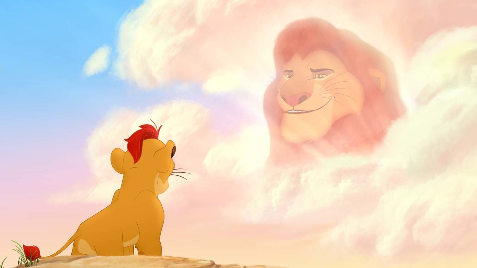 """Kion seeks advice from his grandfather Mufasa. From the movie """"The Lion Guard: Return of the Roar"""""""