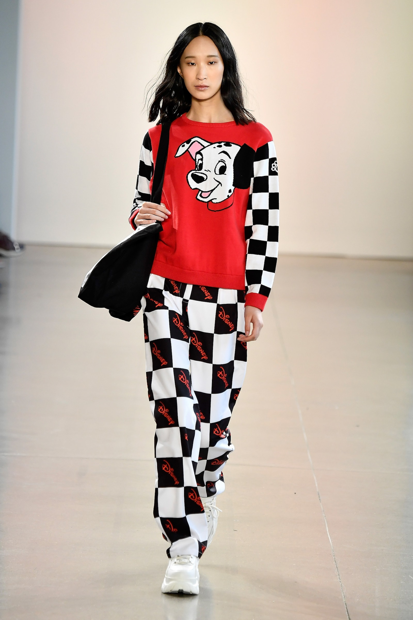 Model sporting 101 Dalmatian outfit by NANA JUDY