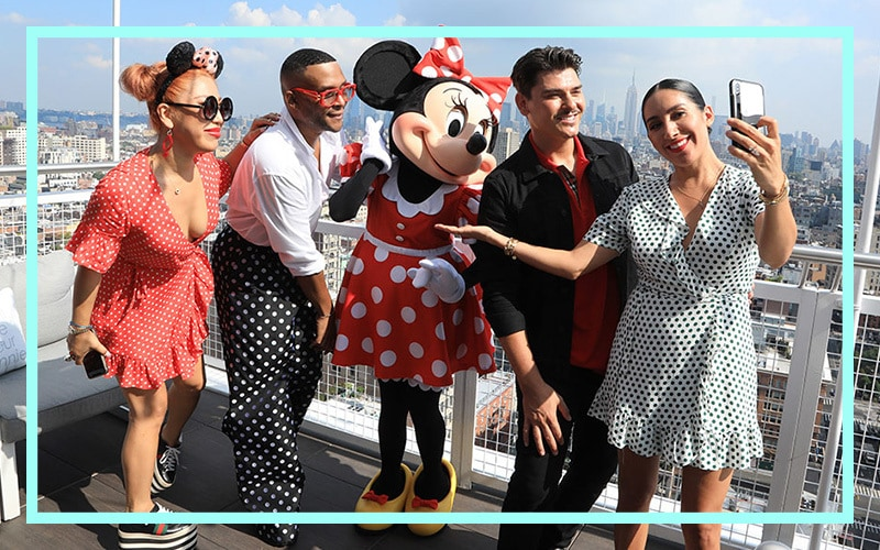 Minnie posing for a picture with Mario, Jen Atkin, Law Roach, and Britney Tokyo.