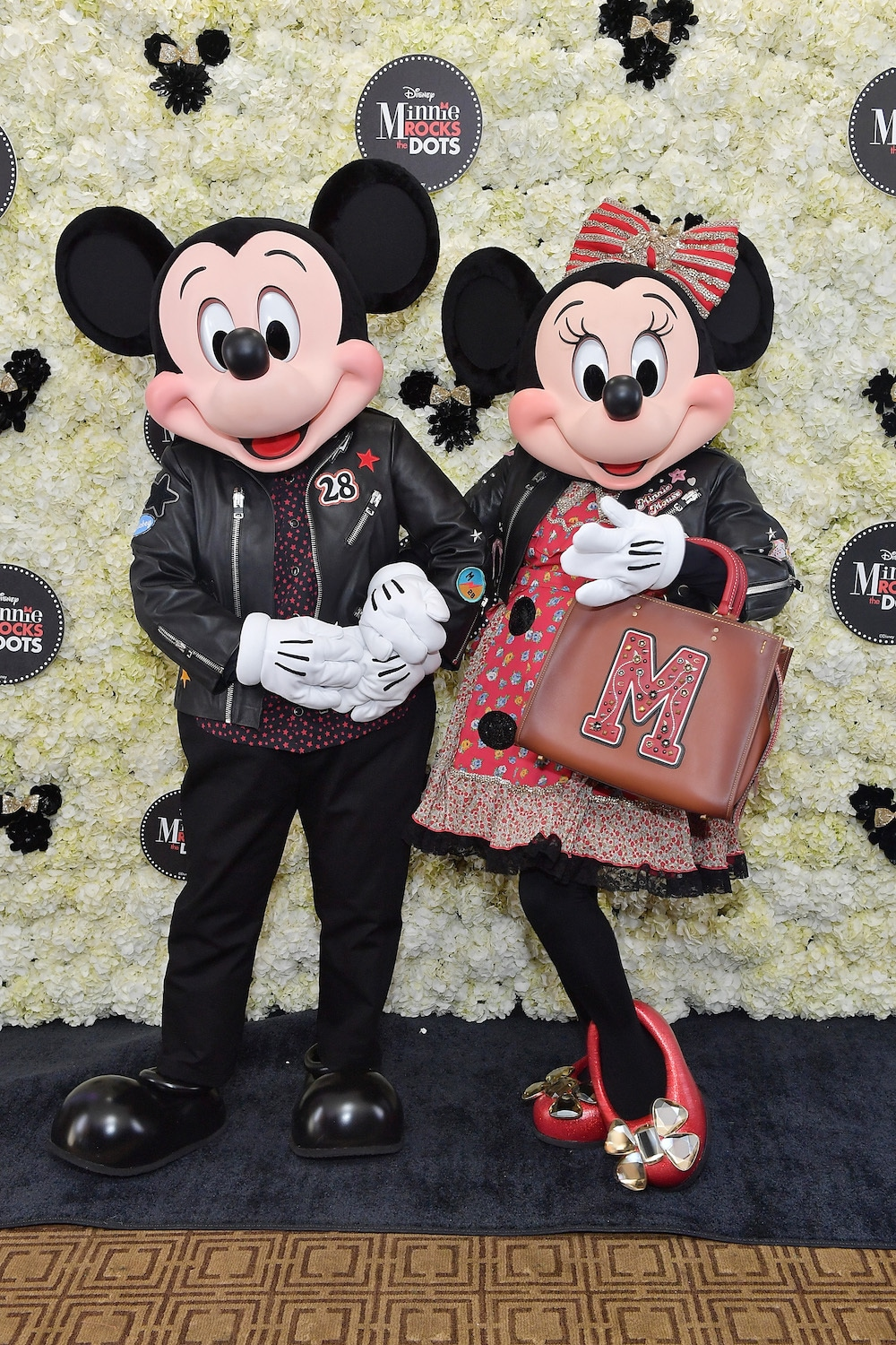 Mickey and Minnie Mouse at the Hollywood Walk of Fame Celebration