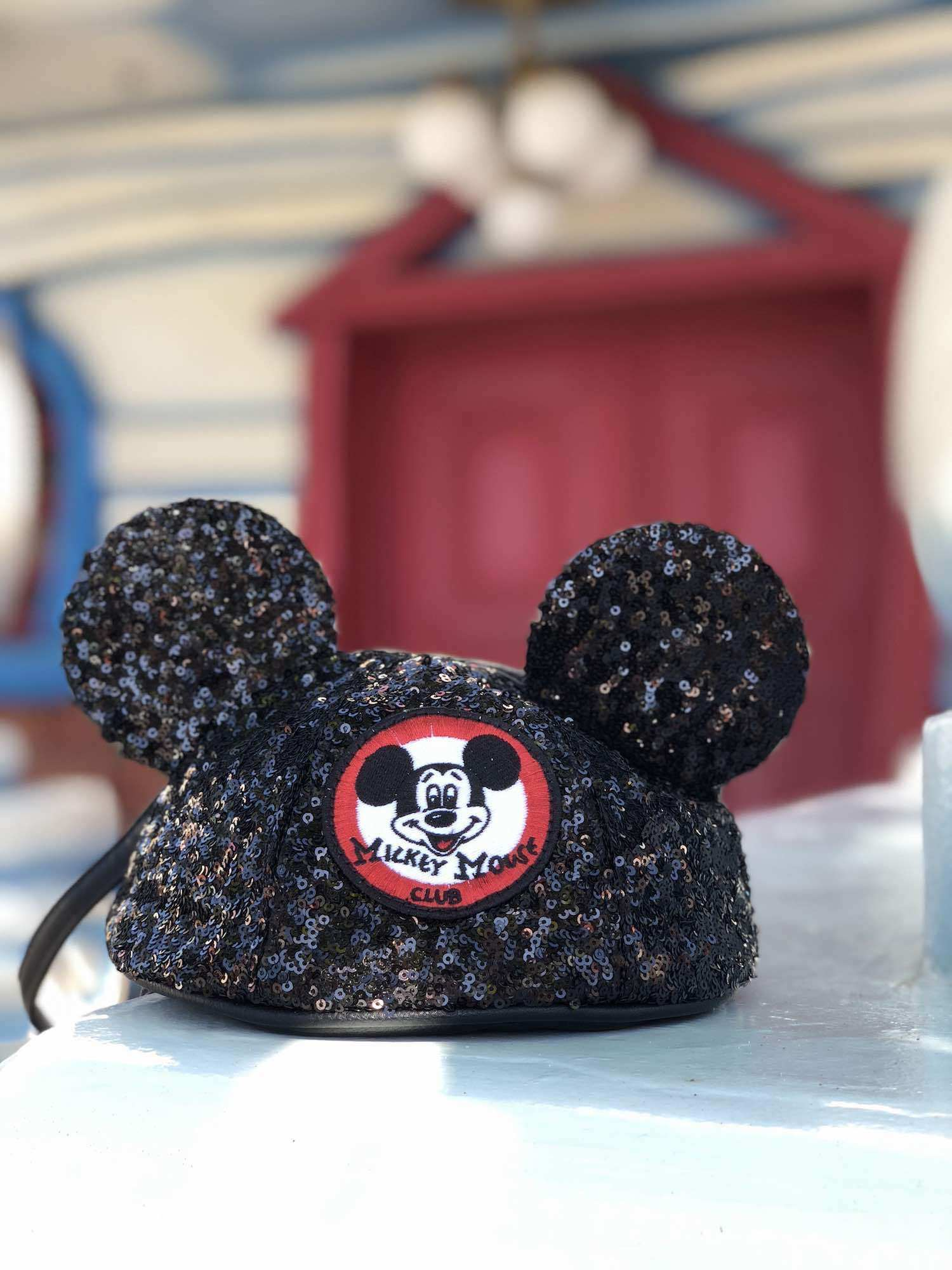 Sequined Mickey Mouse Club Hat wristlet