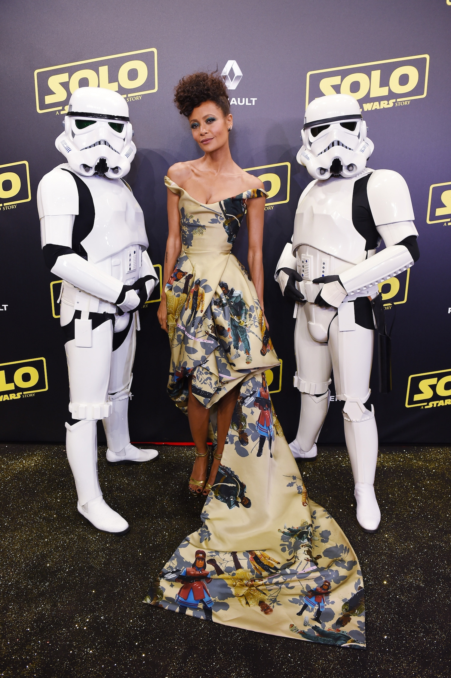 Thandie Newton's Star Wars-Themed Dress