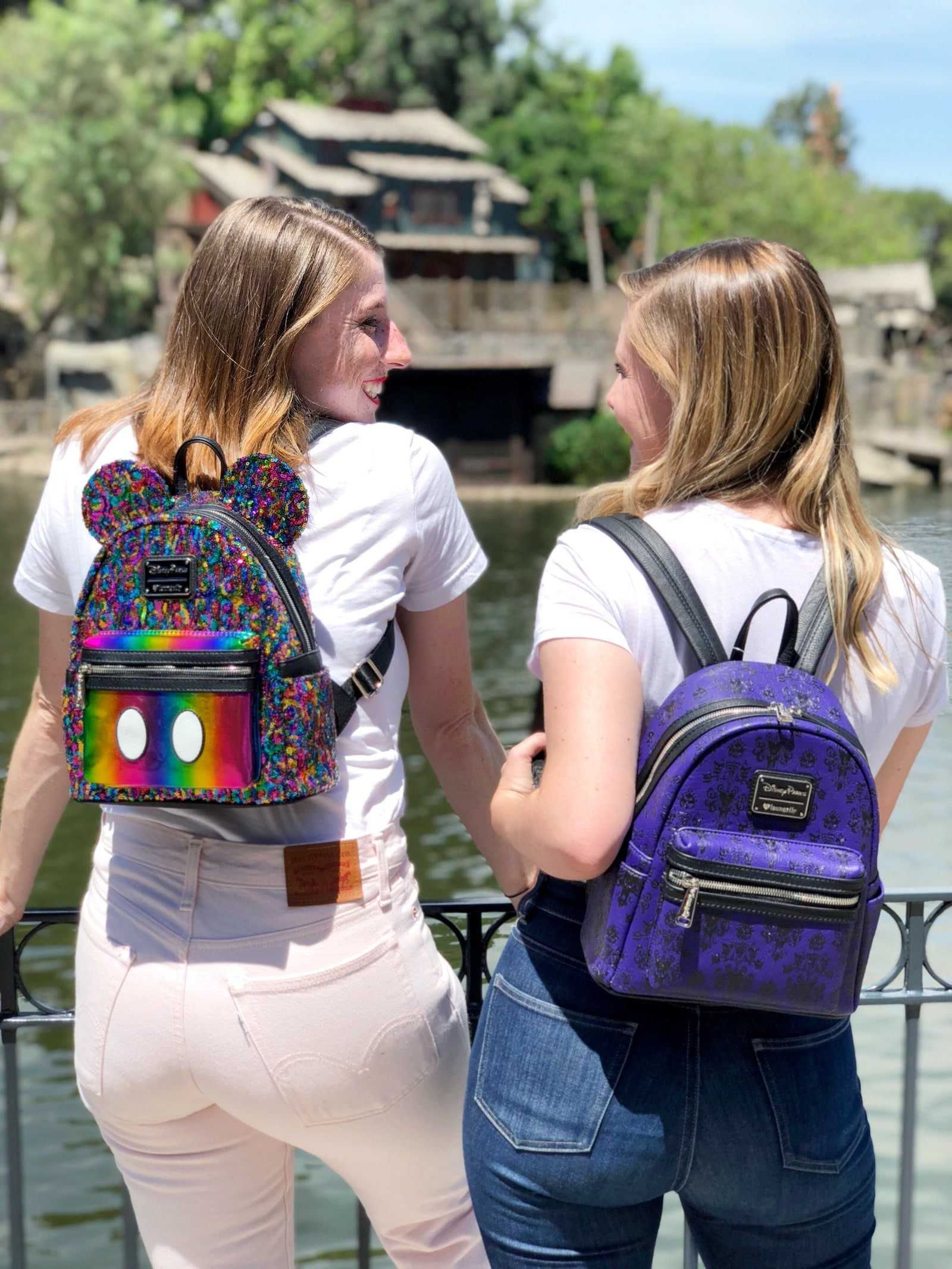 Colorful and Purple Disney Parks back packs