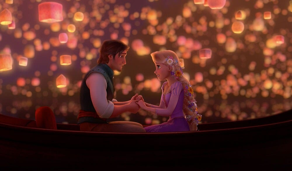 "Flynn and Rapunzel in ""Tangled"""