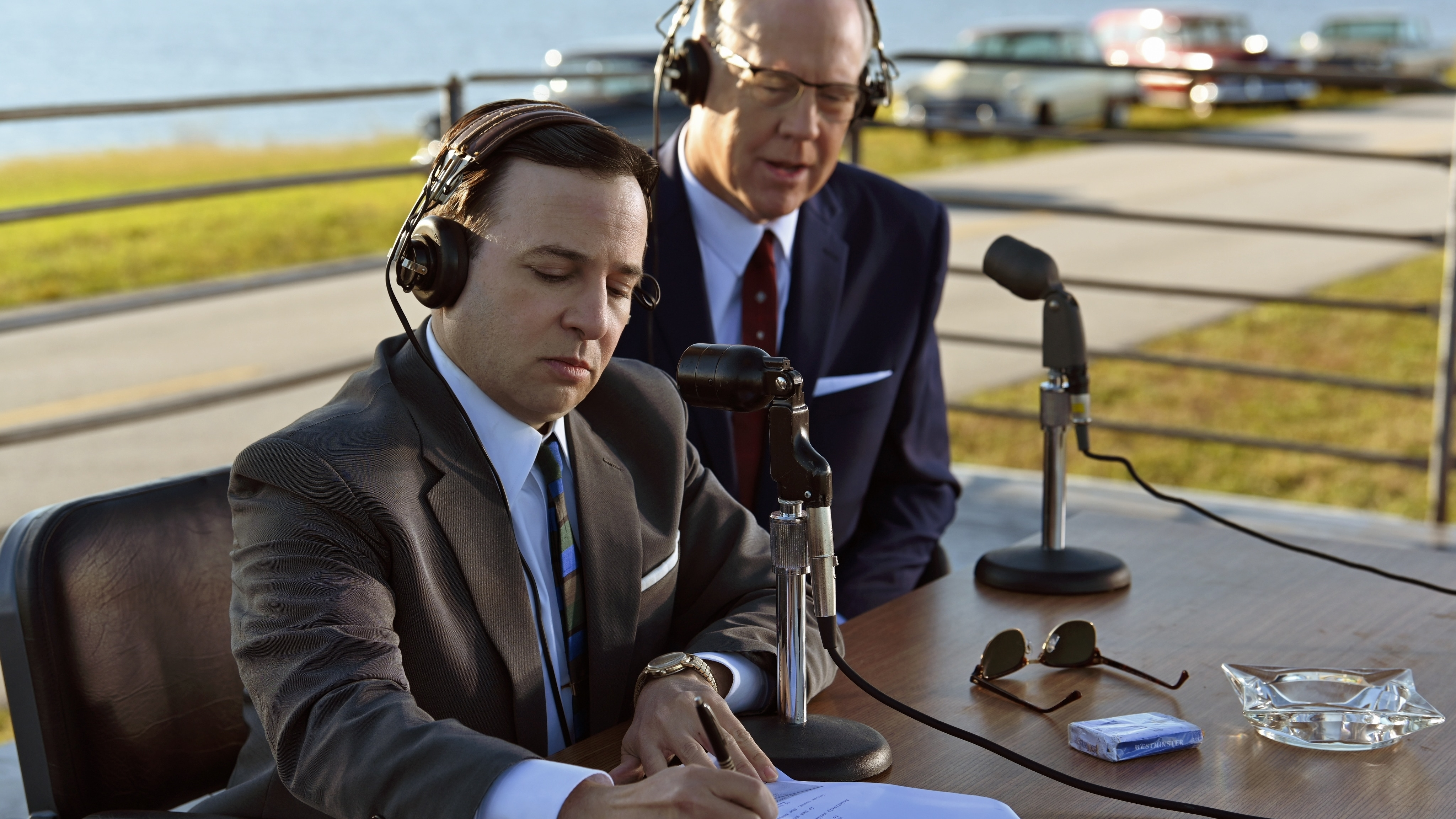 """John """"Shorty"""" Powers (L) played by Danny Strong during the Mercury-Redstone launch in National Geographic's THE RIGHT STUFF streaming on Disney+. (Credit: National Geographic/Gene Page)"""
