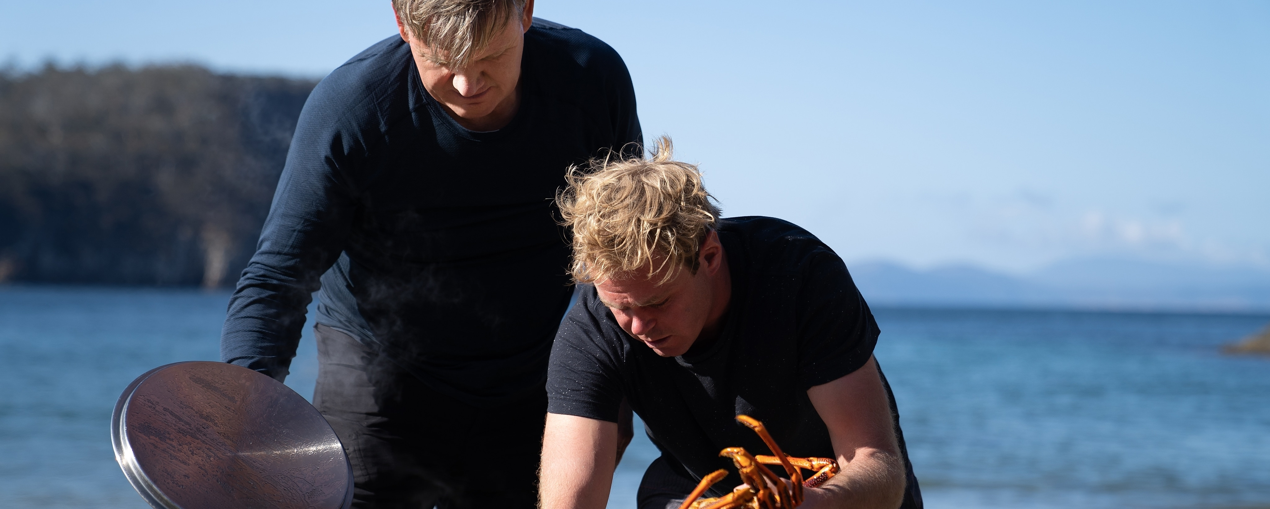 Gordon Ramsay with crayfish