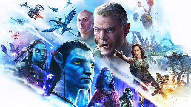 Pandora: Rising Key Art featuring key film characters