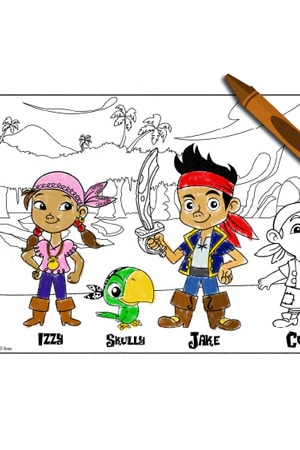 Jake and the Neverland Pirates (For Grown Ups) - Colouring Page