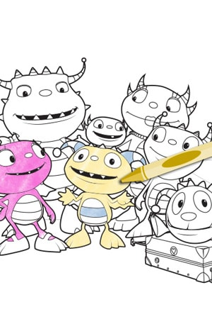 henry hugglemonster coloring page - henry hugglemonster disney junior singapore