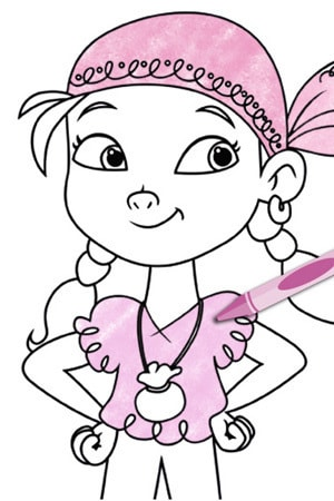 Izzy From Jake And The Never Land Pirates Coloring Pages Disney Junior
