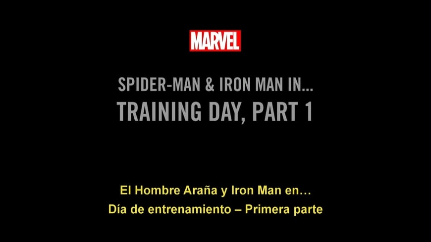 El Hombre Araña y Iron Man - Día de entrenamiento 1